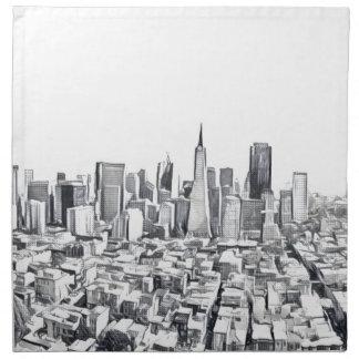 San Francisco SF Citiscape Fotografie Serviette