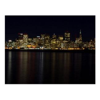 San Francisco Skyline an der Nachtpostkarte Postkarte