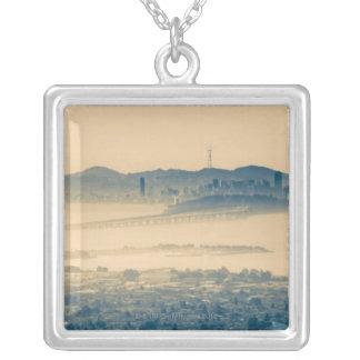 San Francisco Skyline Kalifornien USA Versilberte Kette