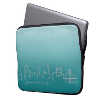 San Francisco Skyline-Laptop-Hülse 13 Zoll Laptopschutzhülle