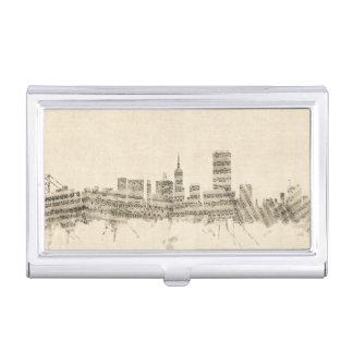 San Francisco Skyline-Notenen-Stadtbild Visitenkarten Dose