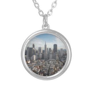 San Francisco Skyline-Panorama Versilberte Kette