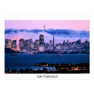San Francisco Skyline-Postkarte Postkarte