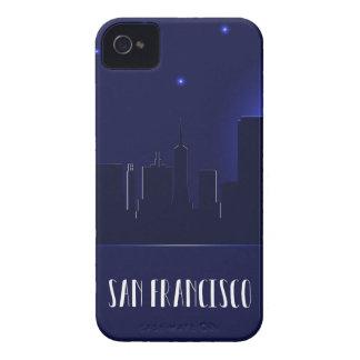 San Francisco Skyline-Silhouette nachts iPhone 4 Case-Mate Hülle