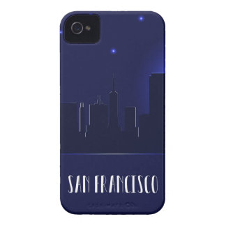 San Francisco Skyline-Silhouette nachts iPhone 4 Cover
