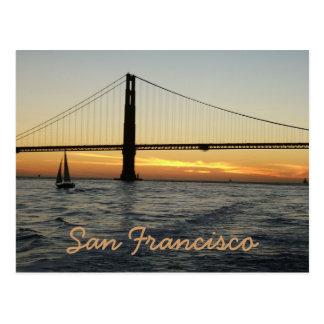 San Francisco Sonnenuntergang Postkarte