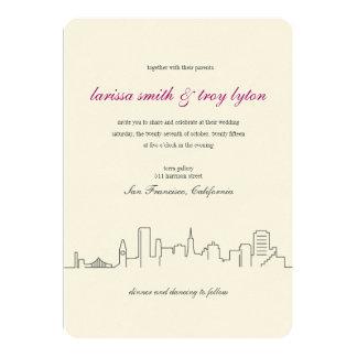 San Francisco Stadt-Skyline-Hochzeits-Einladung Karte