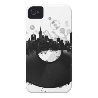 San Francisco Stadt-Skyline-Vinylweiß iPhone 4 Case-Mate Hülle
