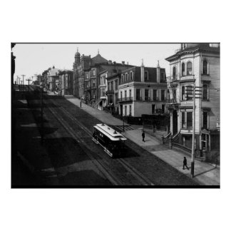 San Francisco Straße mit Drahtseilbahn 1901