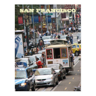 San Francisco Straßen-Postkarte!