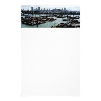 San Francisco und Seelöwe-Stadt-Skyline des Briefpapier