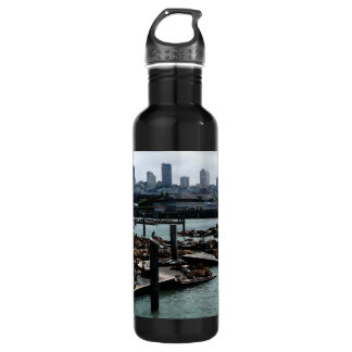 San Francisco und Seelöwe-Stadt-Skyline des Trinkflasche