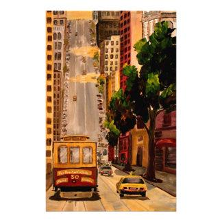 San Francisco Van Ness Drahtseilbahn Briefpapier