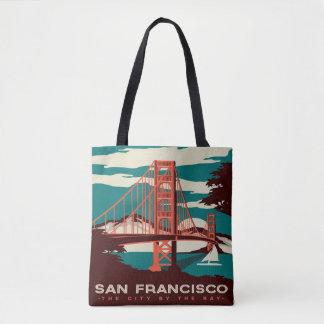 San Francisco Vintage Art-Taschentasche Tasche