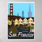 San Francisco Vintages Montage-Reise-Plakat Poster