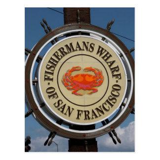 San Francisco Warf Postkarte