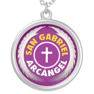 San Gabriel Arcangel Versilberte Kette