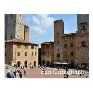 San Gimignano, Italien Postkarte
