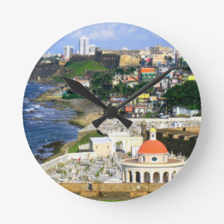 San Juan Puerto Rico Runde Wanduhr