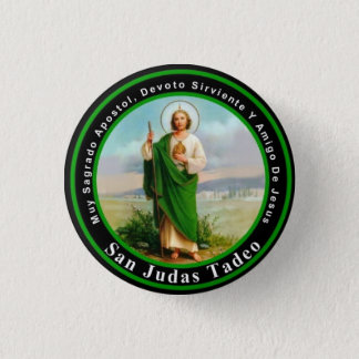 San Judas Tadeo Runder Button 3,2 Cm