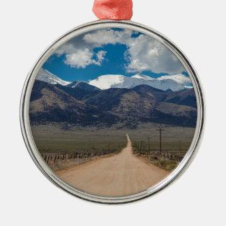 San Luis-Tal-Rückseiten-Straßen-Kreuzen Silbernes Ornament