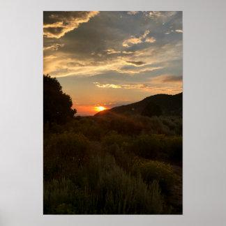 San Luis-Tal-Sonnenuntergang Poster