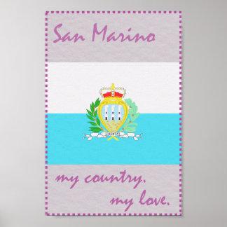 San Marino mein Land meine Liebe Poster