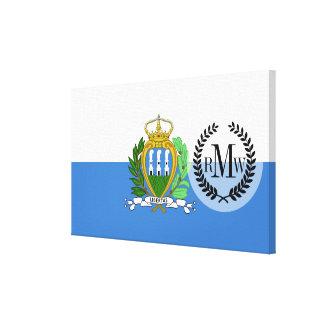 San- Marinoflagge Leinwanddruck