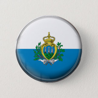 San- Marinoflagge Runder Button 5,1 Cm