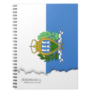 San- Marinoflagge Spiral Notizblock