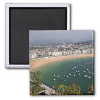 San Sebastián, Spanien. Die baskische Stadt von Sa Quadratischer Magnet