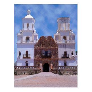 San Xavier Del Bac Mission - Tucson, AZ Postkarte
