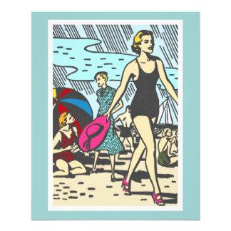 sand-and-beach_vintage-image VINTAGE MODE-ART Flyer