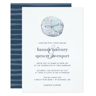 Sand-Dollar-Hochzeits-Einladung Karte