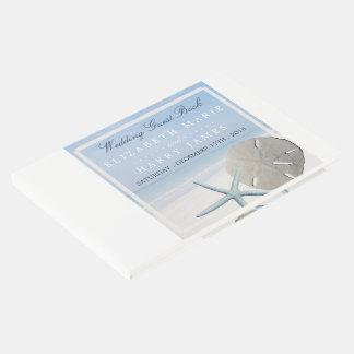 Sand-Dollar und Starfish-Strand-Hochzeit Gästebuch