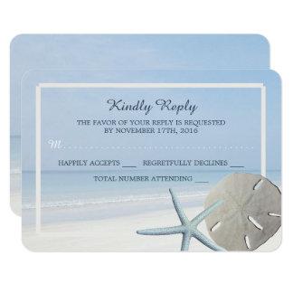 Sand-Dollar und Starfish-Strand-Hochzeit UAWG 8,9 X 12,7 Cm Einladungskarte