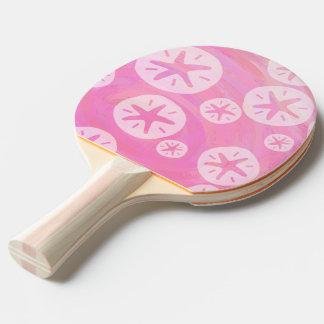 Sand-Dollar weiß und rosa Tischtennis Schläger