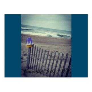 Sand-Eimer an der Strand-Postkarte Postkarten