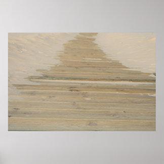 Sand fegte Weg Poster