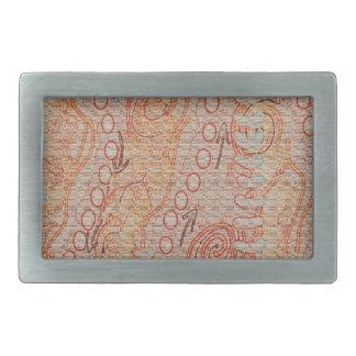 Sand hallt eingeborene Kunst der Sammlungs-#1 Rechteckige Gürtelschnalle