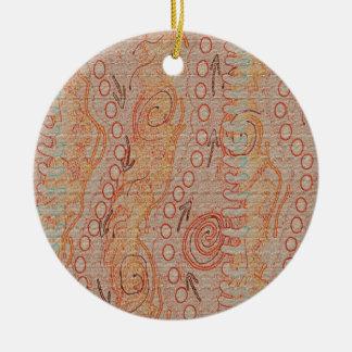 Sand hallt eingeborene Kunst der Sammlungs-#1 Rundes Keramik Ornament