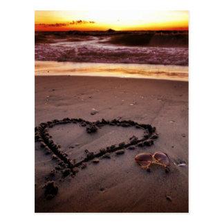 Sand-Herz Postkarten