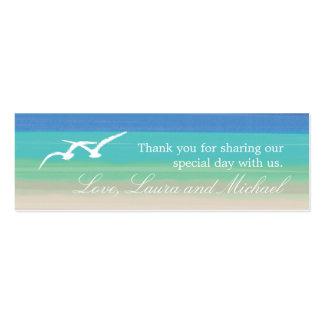 Sand-, See-und Seemöwe-Bevorzugungs-Karten Mini-Visitenkarten