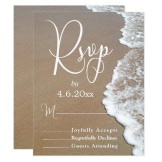 Sand-u. Schaum-Strand-Foto/Typografie-Hochzeit 10,8 X 14 Cm Einladungskarte