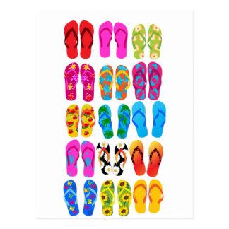 Sandale-bunter Spaß-Strand-Thema-Sommer Postkarten