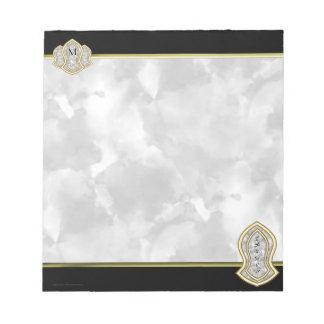 Sandale des Prophet-(weißen) Marmors u. des Goldes Notizblock