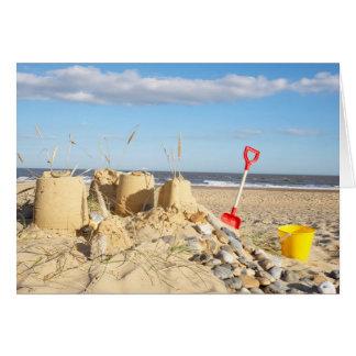 Sandcastle am Strand Karte