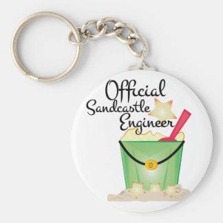 Sandcastle-Ingenieur Schlüsselanhänger