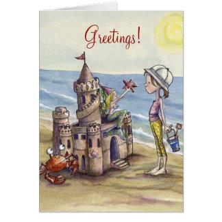 Sandcastle-Magie notecard Karte