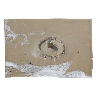 Sandcastle und Muscheln Kissenbezug
